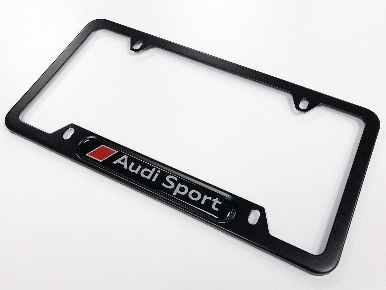 Audi Rs7 Audi Sport License Plate Frame Black Powdercoat