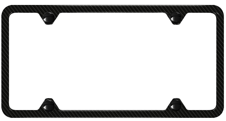 Audi Rs7 Slimline License Plate Frame Carbon Fiber Logo