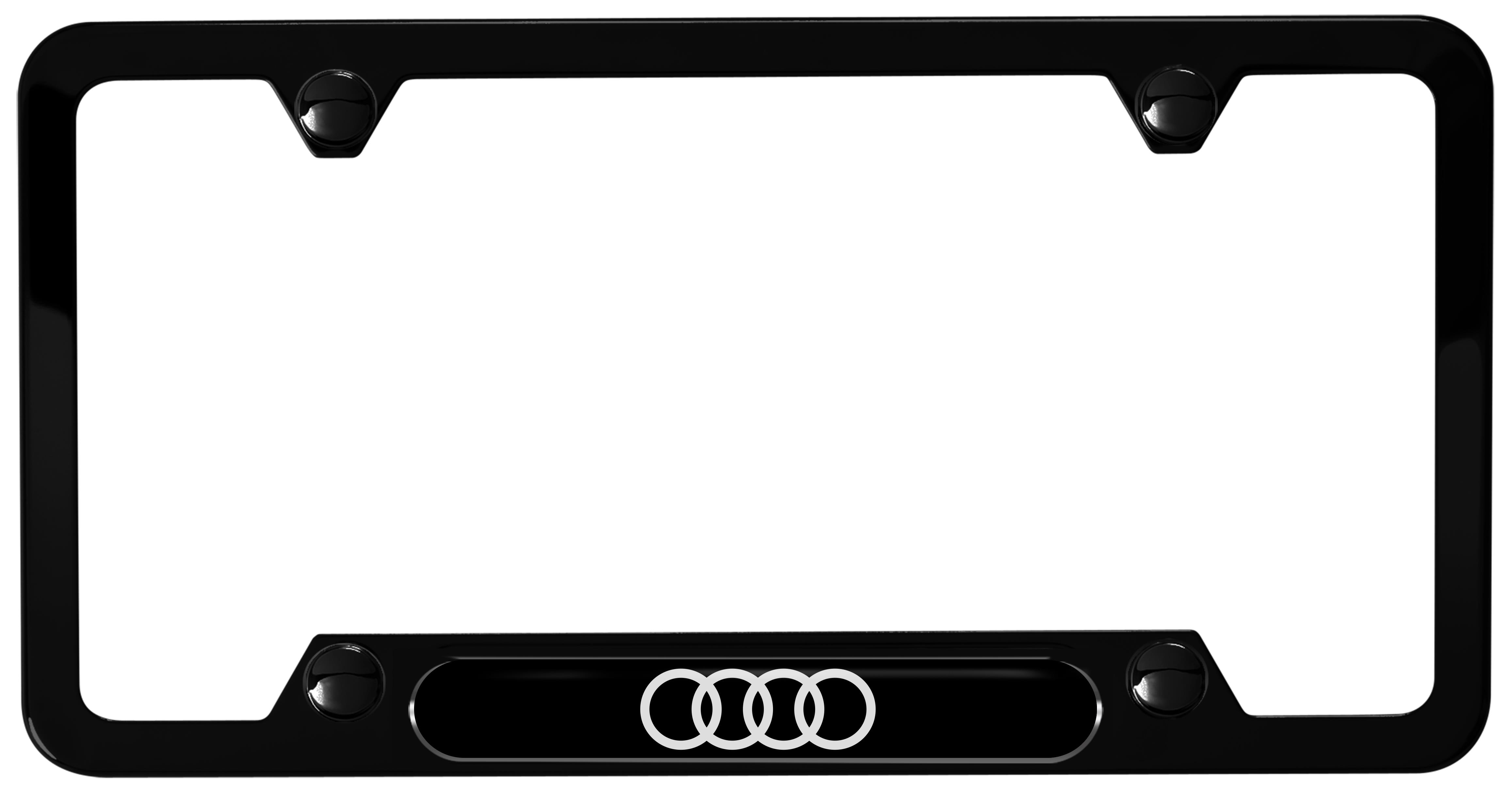2017 Audi A4 Audi Rings License Plate Frame Black Powder